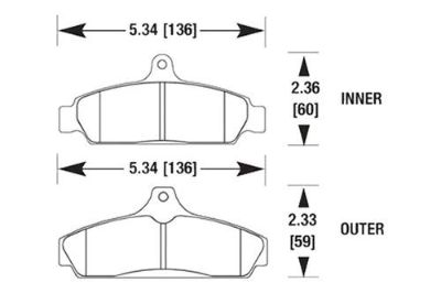 Buy HAWK HB173N.570 - 84-87 Chevy Corvette Front Brake Pads motorcycle in Chino, California, US, for US $122.29