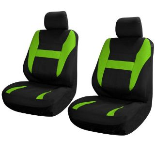 Find SUV Van Truck Seat Covers for Front Bucket Seats Black / Green 6pc w/Head Rest motorcycle in Van Nuys, California, United States, for US $15.67