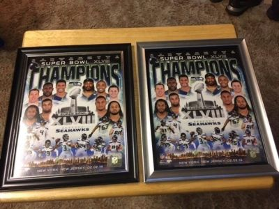 SEATTLE SEAHAWKS XLVIII Officially Licensed 8x10 Framed Composite Photo *** NEW