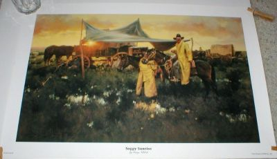 """Soggy Sunrise"" Art Print by Gary Niblett - Signed & Numbered - 18"" x 27"""