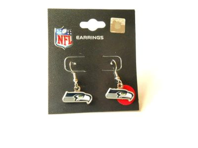 ***** SEATTLE SEAHAWKS LOGO DANGLER EARRINGS *****
