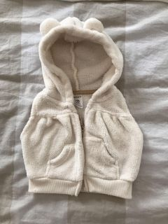 Carters newborn vest with ears on the hood