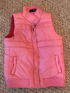 Pink Puffy Vest Size 14/16