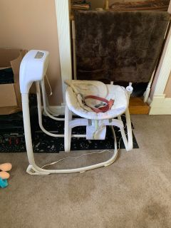 Soothing solution three in one bassinet, swing And bouncer