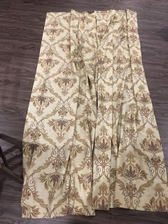 Two 40 x 84 curtain panels