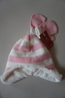 Girls Faded Glory Hat and Mittens One Size