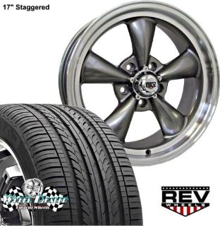 """Sell 17x7""""-17x8"""" GRAY REV CLASSIC 100 WHEELS & TIRES FOR BUICK CENTURY 1976 1977 1978 motorcycle in Spring, Texas, United States, for US $1,149.00"""