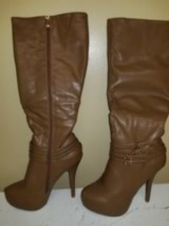 Women's Brand New Taupe knee high boots size 8.5