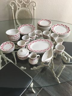 Dishes set $20 38 pieces no holds price is firm