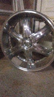 22 inch Chrome Rims Alba Remix 5 lug