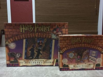 Set of two Harry Potter board games puzzles