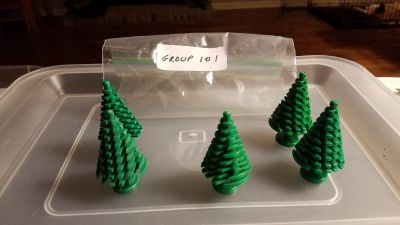 5 Lego Pine Trees Group 101