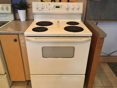 Kenmore White Electric Range - USED