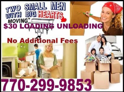 770-299-9853 $30 Loading Unloading Trucks Pods TRAILERS Storage Units Metro Atlanta Movers