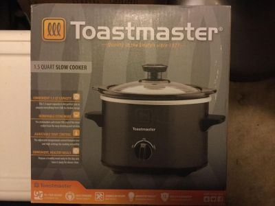 NEW Toastmaster 1.5qt Slow Cooker