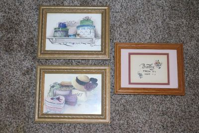 Small Framed Pictures - all 3 for $15