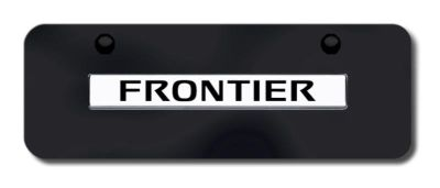 Find Nissan Frontier Name Chrome on Black Mini License Plate Made in USA Genuine motorcycle in San Tan Valley, Arizona, US, for US $33.38