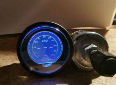 Sell PROSPORT 52mm EVO Series Digital Blue Led Fuel Pressure Gauge PSI motorcycle in Dahlonega, Georgia, United States