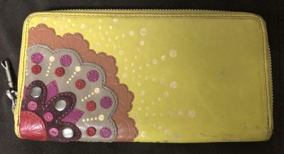 Fossil yellow Leather wallet