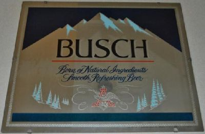 * Large Anheuser Busch Beer Mirror Sign *