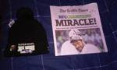 *** Seattle Times SEAHAWKS NFC CHAMPIONS NEWSPAPER (1/19/15) and XLVIII Beanie Hat ***