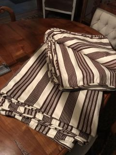 Two Pottery Barn duvet covers