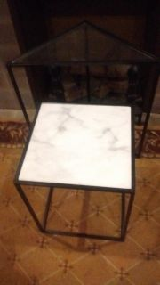 Two Metal Frame Tables that Insert!