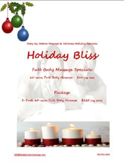 Holiday Bliss Full Body Massage Pkg.