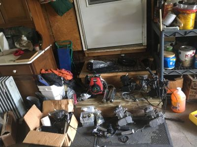 Motorized bicycle motors and accessories