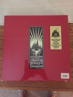 SEALED 50TH ANNIV. A MUSICAL HISTORY OF DISNEYLAND LIMITED EDITION CD BOX SET