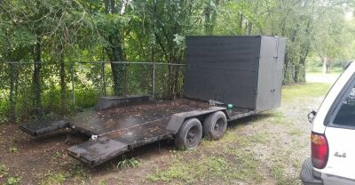 26x8 open trailer with new winch/battery