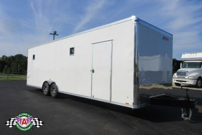 2019 Pace American 28' Cargo Sport Racer's Special - White