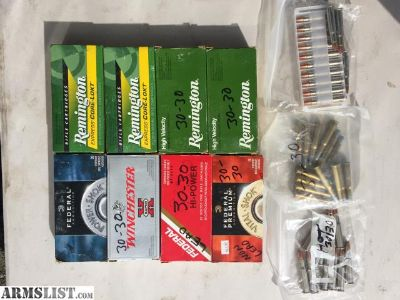 For Sale: 30-30 Ammo (assorted)