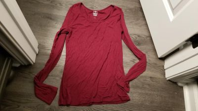 Deep burgundy /red top very soft material