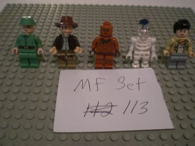5 Lego Indiana Jones Minifigs Group 113