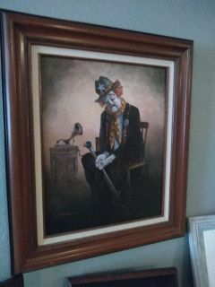 Tom Dooley clown painting! Price reduced!