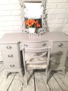 Vanity with chair