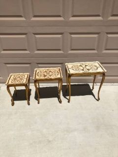Set of 3 Vintage Nesting Tables