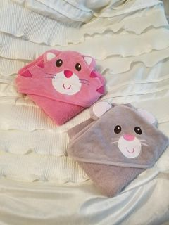 Two Hooded Towels