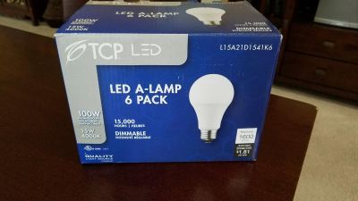 LED light bulbs incandescent dimmable box of 6