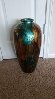 Turquoise and Copper Vase