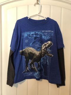 Size XS 6/7 EUC Long Sleeved Shirt JURASSIC PARK BRAND SEE MY OTHER LISTINGS OF GREAT KIDS CLOTHES