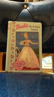 Barbie Mix and Match Fashions book. Flip to create dozens of outfits for Barbie to wear. Online ave is $4.00. Asking $3.00