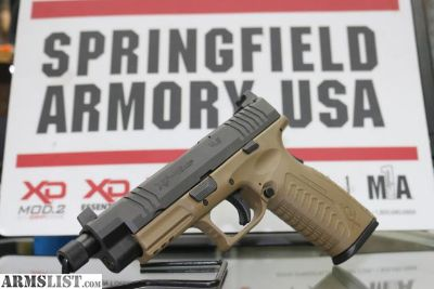 For Sale: SPRINGFIELD XDM FDE 45ACP 13+1 THREADED BARREL