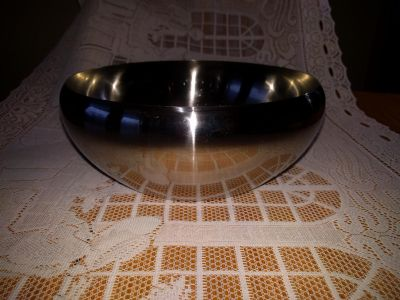 Serving bowl, stainless steel