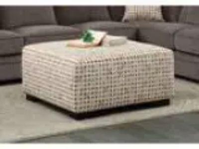 Alamosa collection diamond pattern print fabric upholstered otto