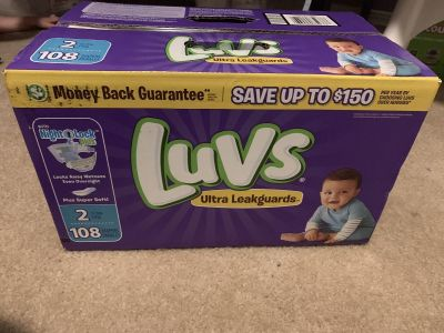 Case of size 2 diapers