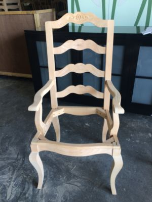 Pair of Floral Carved Dining Chair Frames