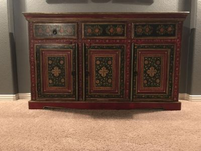 3-Drawer Hand Painted Buffet