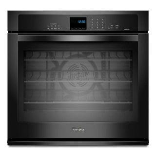 "Whirlpool Gold Black 30"" Single Electric Wall Oven Closeout WOS92EC0AB"